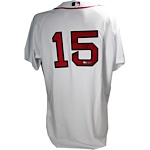 Dustin Pedroia Red Sox Authentic White Jersey (MLB Auth) (Signed on Back)